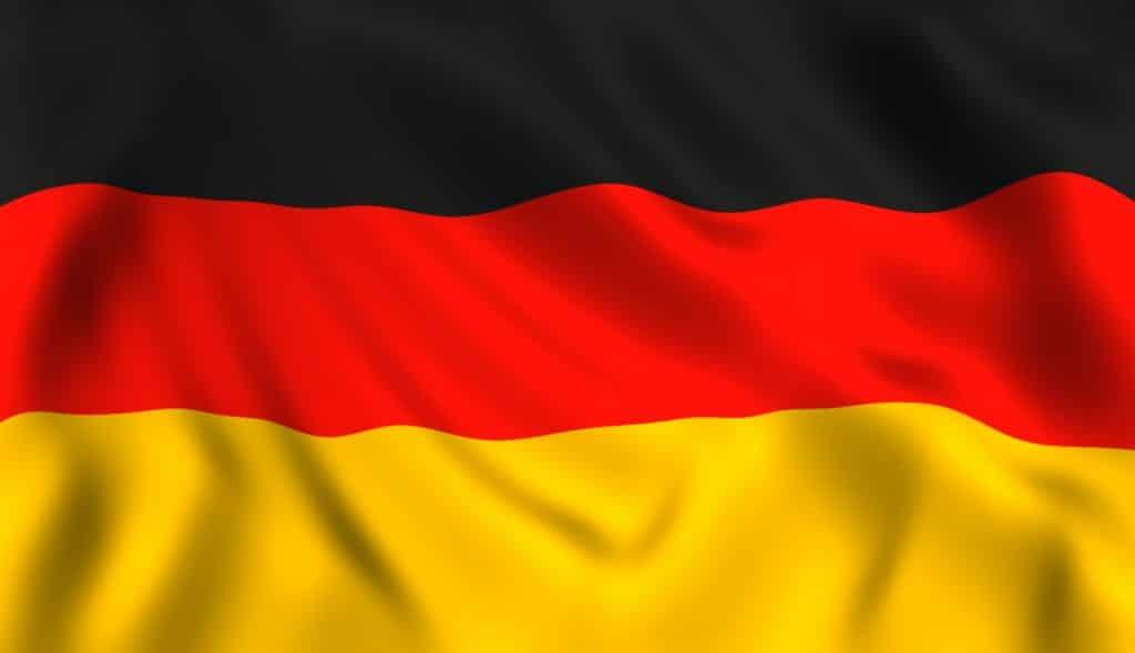 Deutsche Flagge weht Symbol von Deutschland